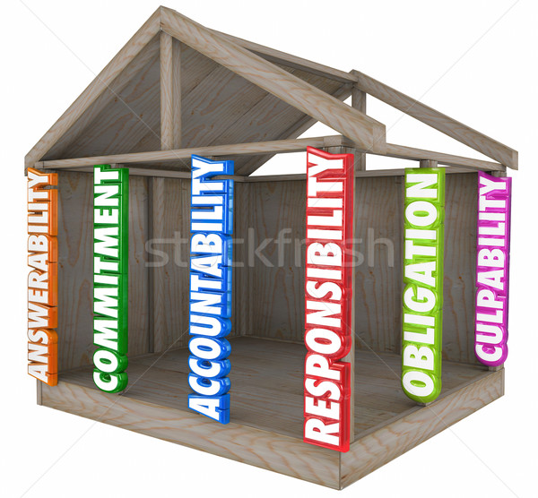 Accountability Responsibility Culpability House Construction Fou Stock photo © iqoncept