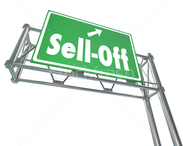Sell-Off Freeway Sign Selling Stocks Panic Divesting Investments Stock photo © iqoncept