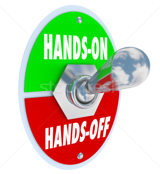 Hands On Vs Off Toggle Switch Get Involved Take Action Stock photo © iqoncept