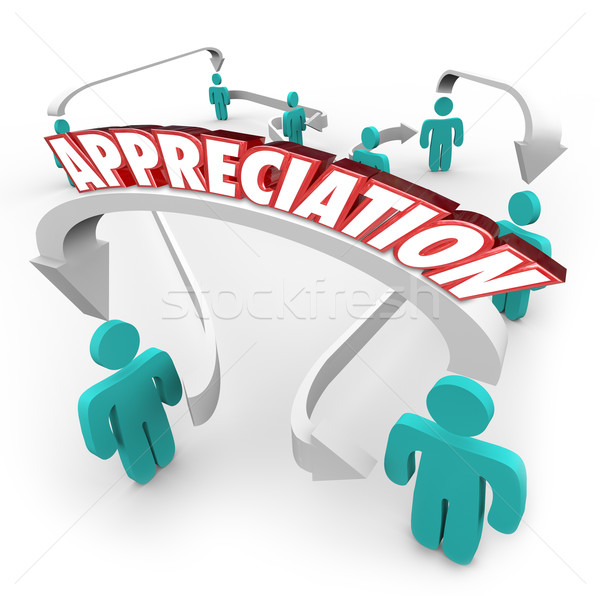 Appreciation Gratitude People Connected Arrows Thankful Stock photo © iqoncept