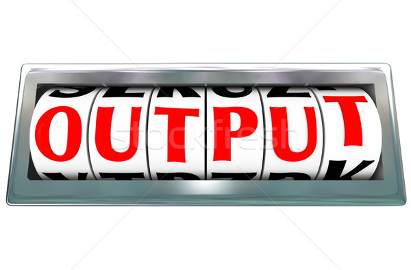 Output Word Letter Dials Results Productivity Efficiency Job Per Stock photo © iqoncept