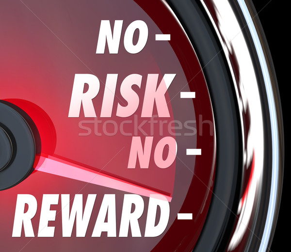 No Risk No Reward Words Speedometer Investment ROI Stock photo © iqoncept