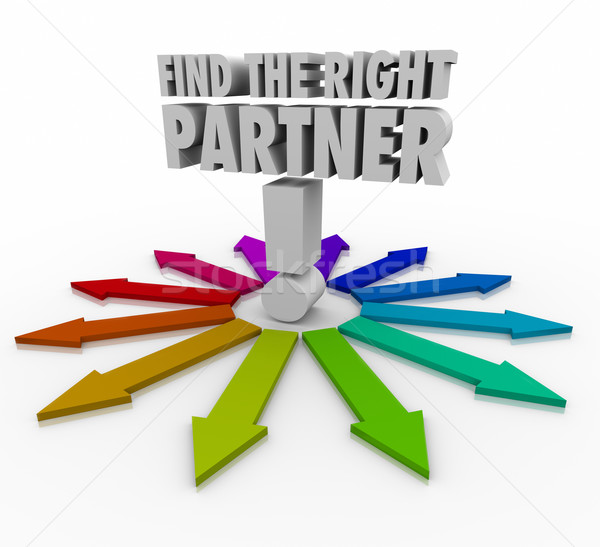 Find the Right Partner Choose Candidate Collaborate Cooperate Stock photo © iqoncept