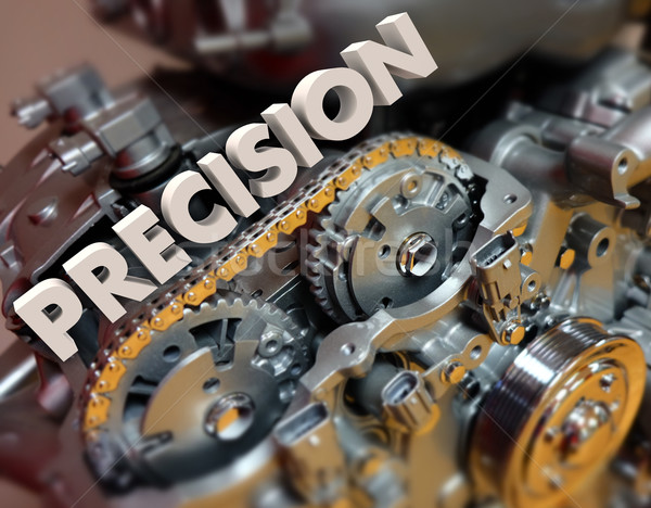 Precision Word Engine Gears Machine Exact Perfect Technology Stock photo © iqoncept