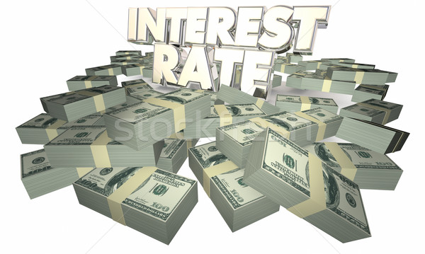 Rente geld spaargeld 3d illustration financieren bank Stockfoto © iqoncept