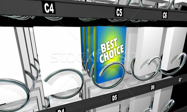 Snack automaat product optie 3d illustration Stockfoto © iqoncept