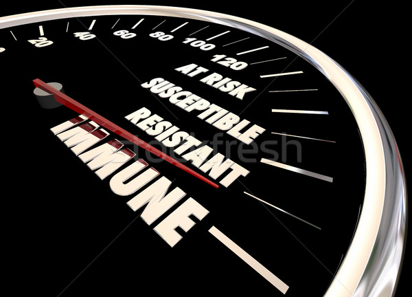 Immune Resistant Immunity Measurement Speedometer 3d Illustratio Stock photo © iqoncept