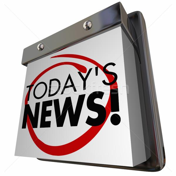 News articolo annuncio aggiornare calendario illustrazione 3d Foto d'archivio © iqoncept