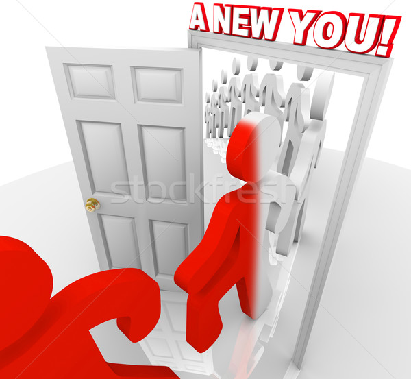A New You - Walk Through the Doorway of Self Improvement Stock photo © iqoncept