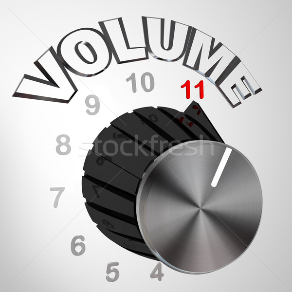 This One Goes to 11 - Volume Dial Knob Turned to Max Stock photo © iqoncept