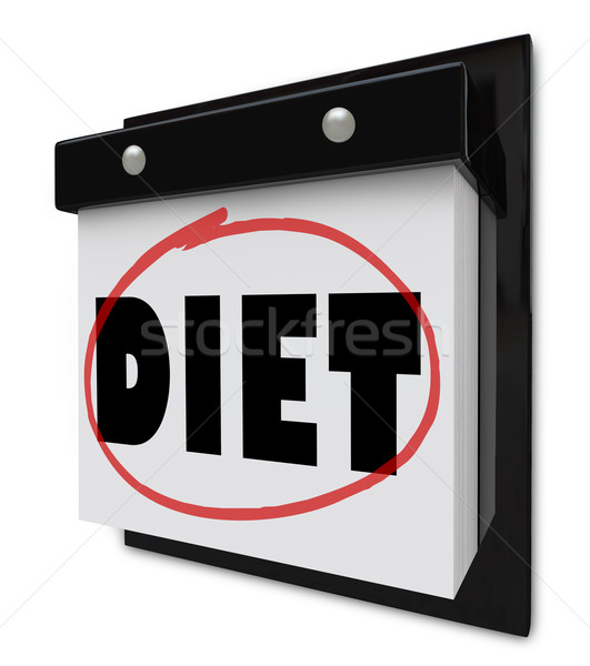 Diet Word on Wall Calendar Reminder to Lose Weight Stock photo © iqoncept