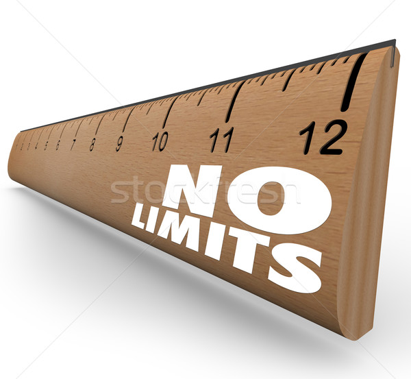 No Limits Words on Ruler Unlimited Potential Stock photo © iqoncept