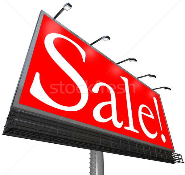 Sale Word Outdoor Advertising Billboard Clearance Special Price Stock photo © iqoncept