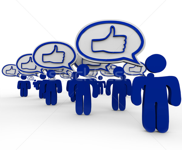 Thumbs Up - Many People Talking and Expressing Like Feelings Stock photo © iqoncept