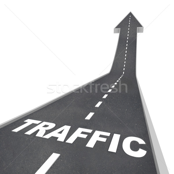 Traffic Rising Up Arrow Road Web Transportation Stock photo © iqoncept
