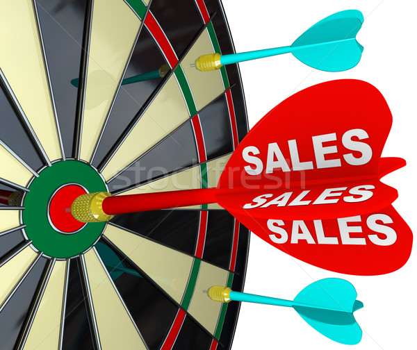 Sales Word Dart Dartboard Success in Business Darts Stock photo © iqoncept