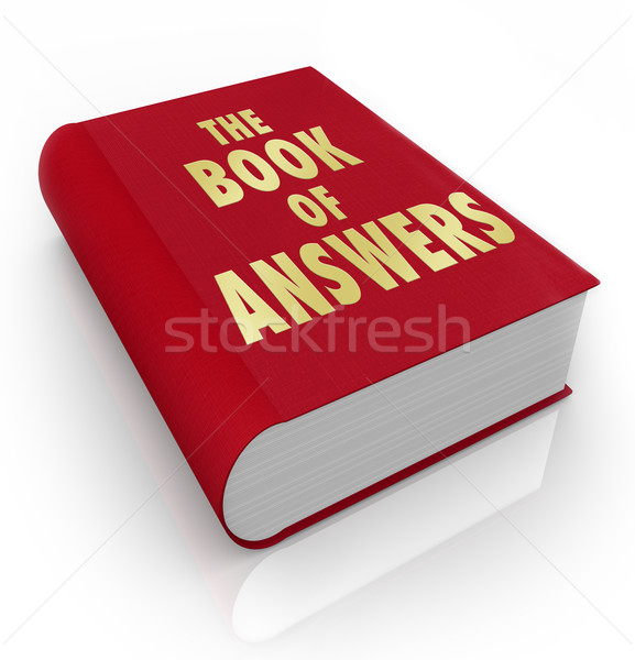 Book of Answers Wisdom Advice Help Manual  Stock photo © iqoncept