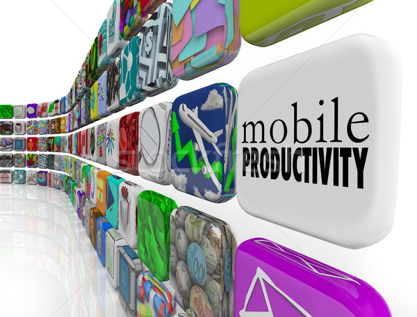 Mobile Productivity Apps Software Working Remotely on the Go Stock photo © iqoncept