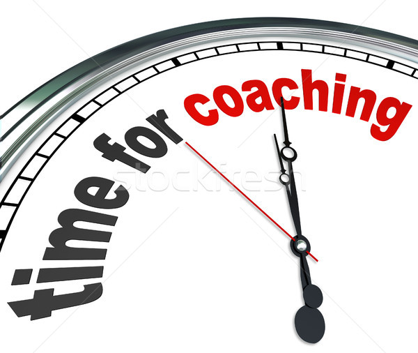 Time for Coaching Clock Mentor Role Model Learning Stock photo © iqoncept