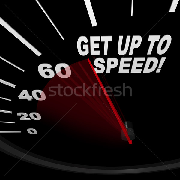 Get Up to Speed - Speedometer Stock photo © iqoncept