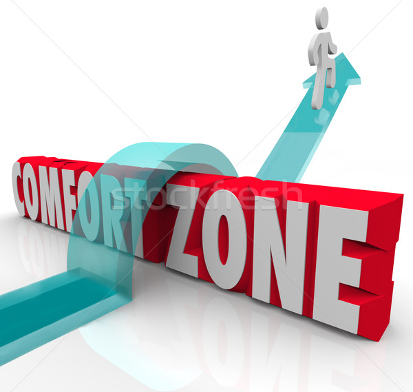 Going Outside Over Comfort Zone Try Different Experience Grow Stock photo © iqoncept
