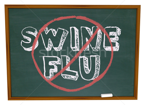 No Swine Flu - Chalkboard Stock photo © iqoncept