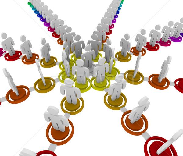 Organizational Chart - Links Stock photo © iqoncept