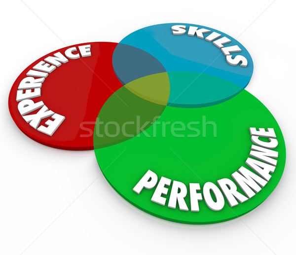 Experience Skills Performance Venn Diagram Employee Review Stock photo © iqoncept