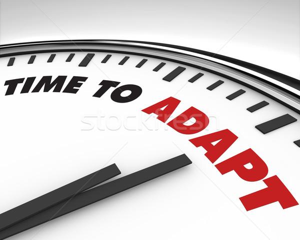 Foto stock: Tiempo · reloj · blanco · palabras · negocios · fondo