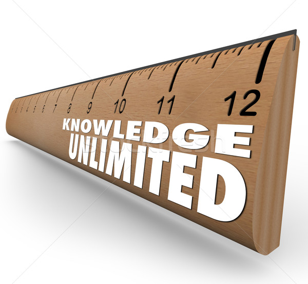 Knowledge Unlimited Ruler High Intelligence Education Stock photo © iqoncept