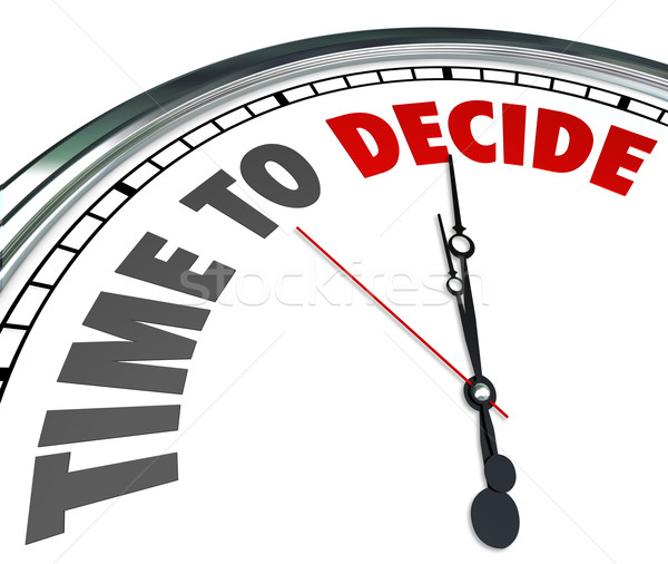 Time to Decide Clock Choose Best Option Opportunity Stock photo © iqoncept