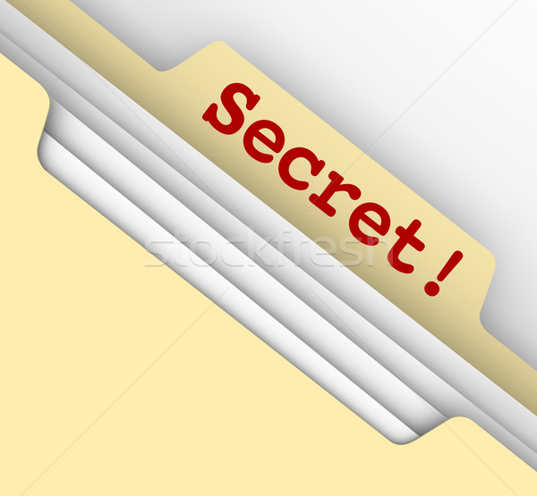 Secret Word Manila Envelope Classified Files Confidential Inform Stock photo © iqoncept