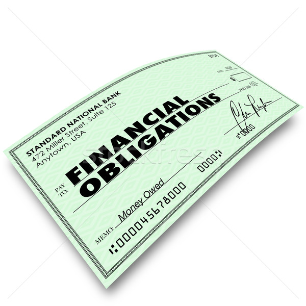 Financial Obligations Check Money Payments Bills Due Stock photo © iqoncept