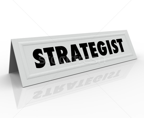 Strategist Name Tent Card Panelist Guest Speaker Consultant Stock photo © iqoncept