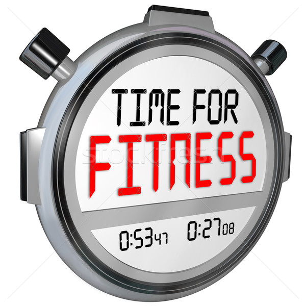 Time for Fitness Words Stopwatch Timer Training Exercise Stock photo © iqoncept