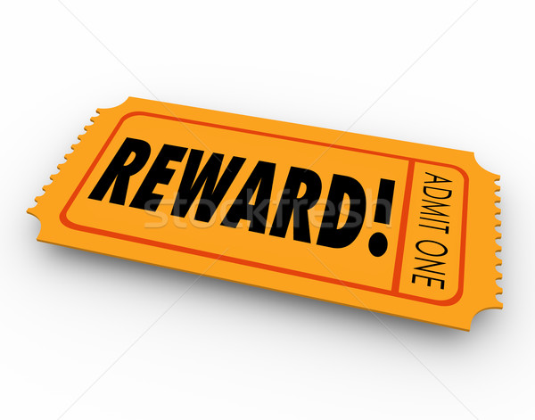 Reward Raffle Ticket Claim Prize Award Motivation Encouragement Stock photo © iqoncept