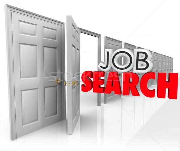 álláskeresés nyitott ajtó új karrier alkalom 3D Stock fotó © iqoncept