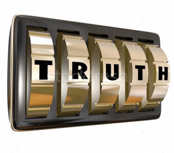 Truth Safe Dials Unlocking Secret Honest Facts Stock photo © iqoncept