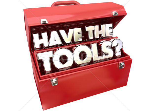 Ferramentas pergunta habilidades necessário caixa de ferramentas Foto stock © iqoncept