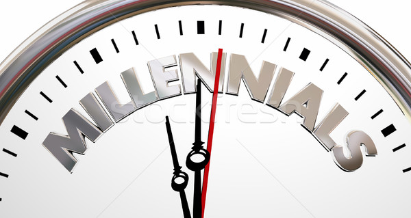 Millennials Generation Y Young People Clock Time 3d Illustration Stock photo © iqoncept