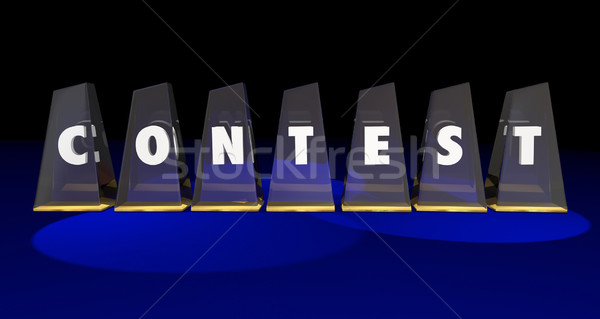 Concours concurrence gagner mot Photo stock © iqoncept