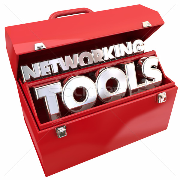 Networking Tools Connections Relationships Toolbox 3d Illustrati Stock photo © iqoncept