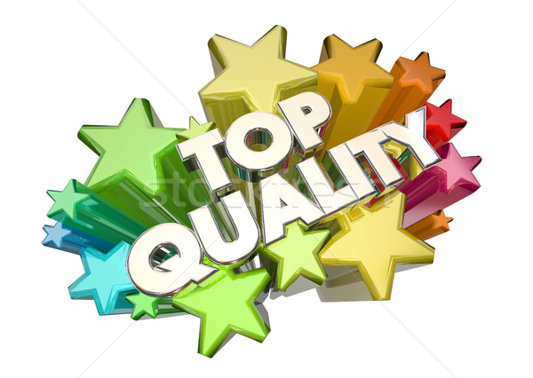 Top Quality Best Most Reliable Products Stars 3d Illustration Stock photo © iqoncept