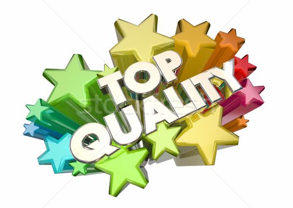 Topo qualidade o melhor confiável produtos estrelas Foto stock © iqoncept
