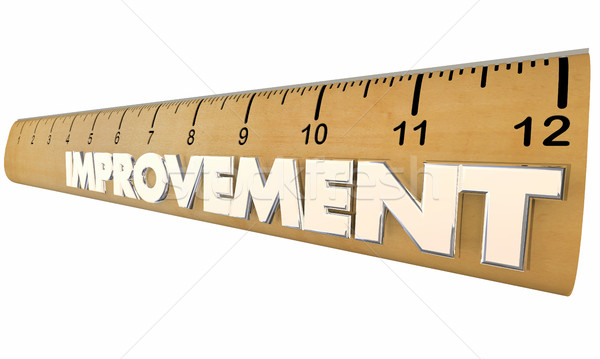 Improvement Process Measurement Metrics Ruler 3d Illustration Stock photo © iqoncept