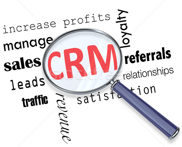 CRM - Magnifying Glass Stock photo © iqoncept