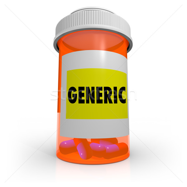 Generic Prescription Bottle - No Name Brand Medicine Stock photo © iqoncept