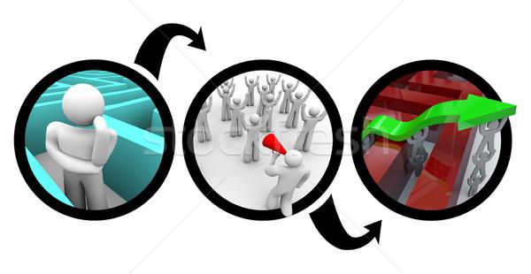 Planification échapper labyrinthe diagramme personne façon Photo stock © iqoncept