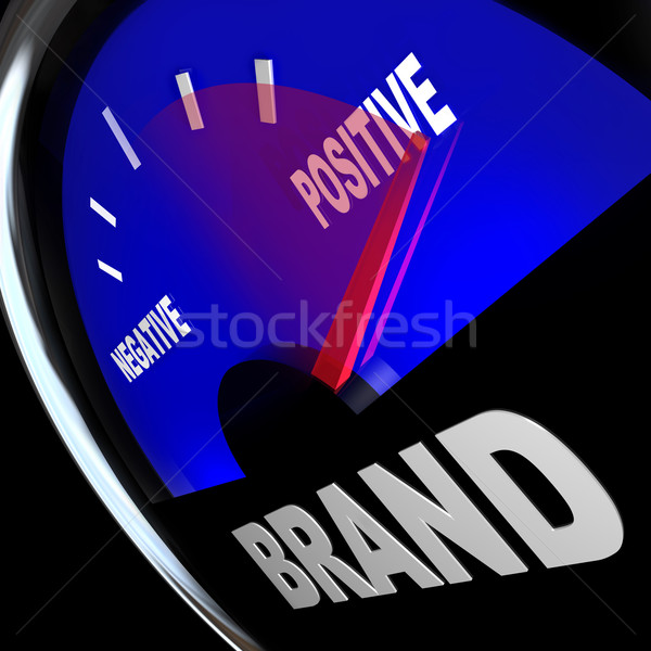Brand Gauge Measuring Identity Loyalty Response Impression Stock photo © iqoncept