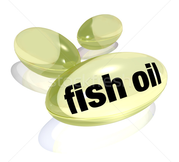 Fish Oil Capsules Omega-3 Fatty Acid Pills  Preventing Disease Stock photo © iqoncept
